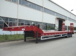 2014 new Hydraulic 4 axles lowbed truck trailer CIMC Low Bed Semi Trailer 100T